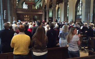 The Celebration packing St Matthew's Church